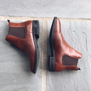 H&M Brown Leather Chelsea Boots